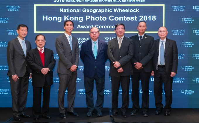 Mr. Douglas Woo, Chairman of Wheelock and Company (left 3), Mr. Stewart Leung, Chairman of Wheelock Properties (left 2), Mr. Paul Tsui, Executive Director & Group Chief Financial Officer (right 1), Mr. Ricky Wong, Managing Director of Wheelock Properties